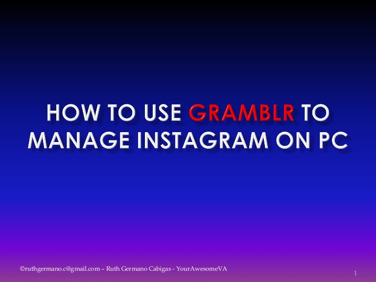 How to use Gramblr for Instagram