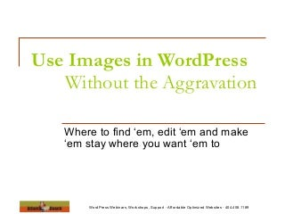 How To Use Images in WordPress: Without the Aggravation