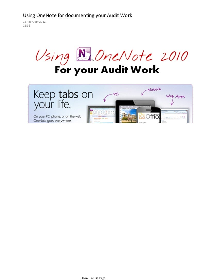 To use one note for documenting your audits how to use one note for documenting your audits baditri Choice Image