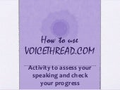 voice thread how to use