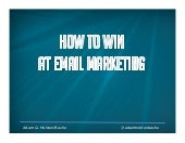 How To Win At Email Marketing