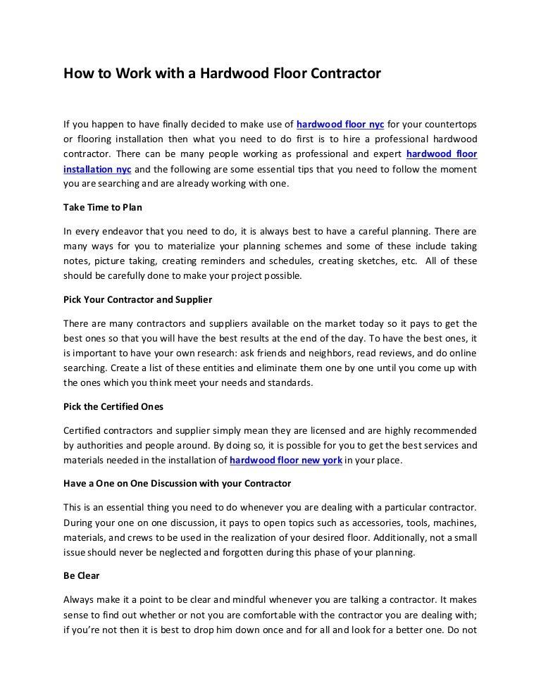 Hardwood Floor Contractors hardwood flooring contractor long island How To Work With A Hardwood Floor Contractor
