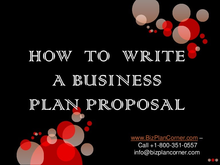 How to Write a successful Business Plan Slide Geeks