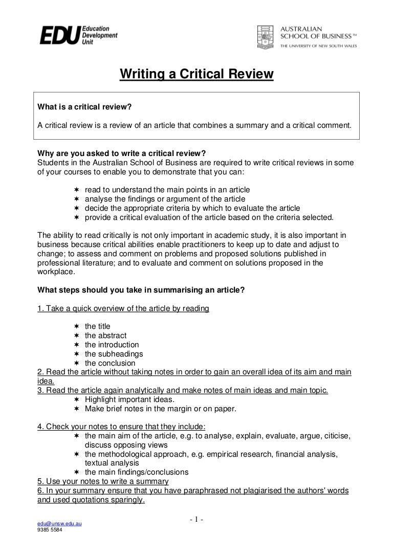 critical analysis example paper critical essay swot analysis ...