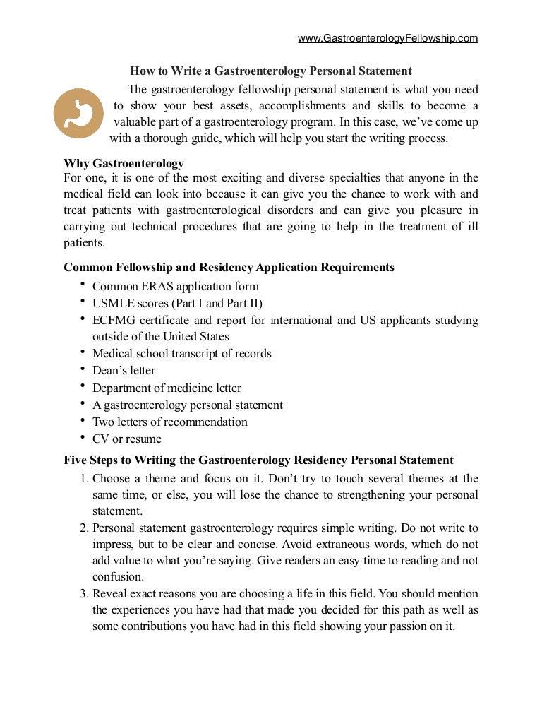 personal statement ecfmg