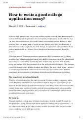 university application essay examples
