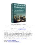 How to write a marketing plan ?