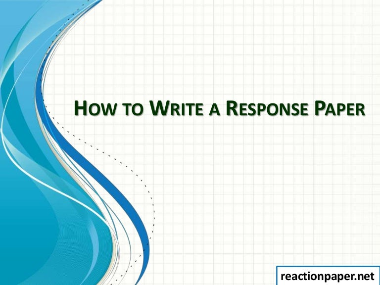 how to write a short response paper