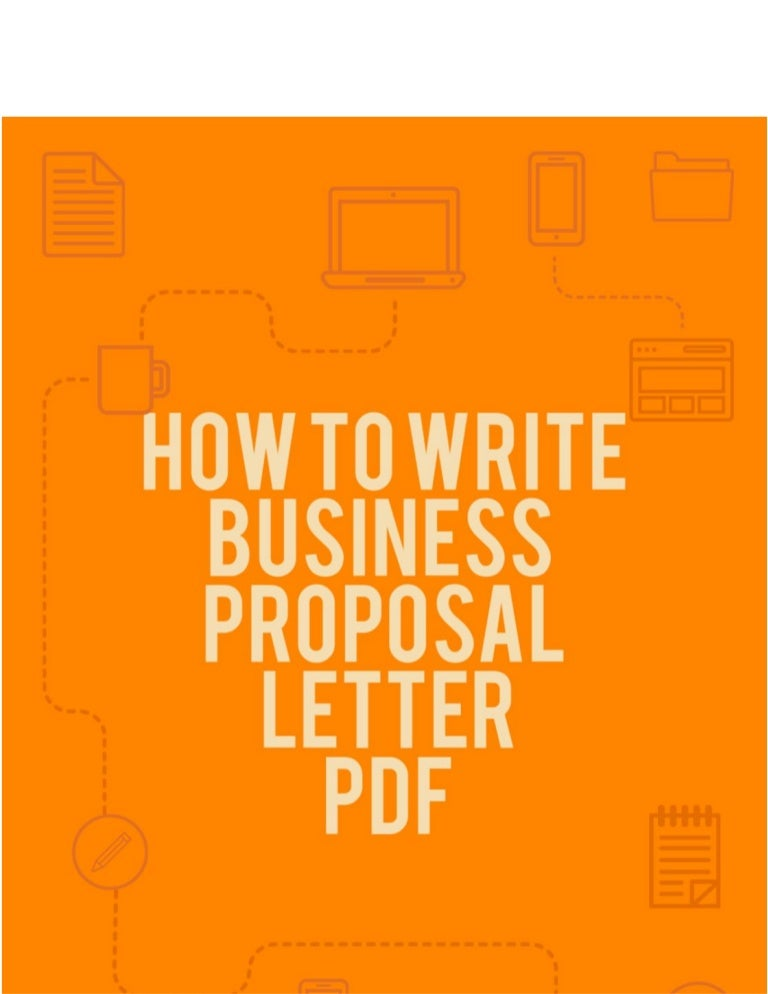 how to write business proposal letter pdf