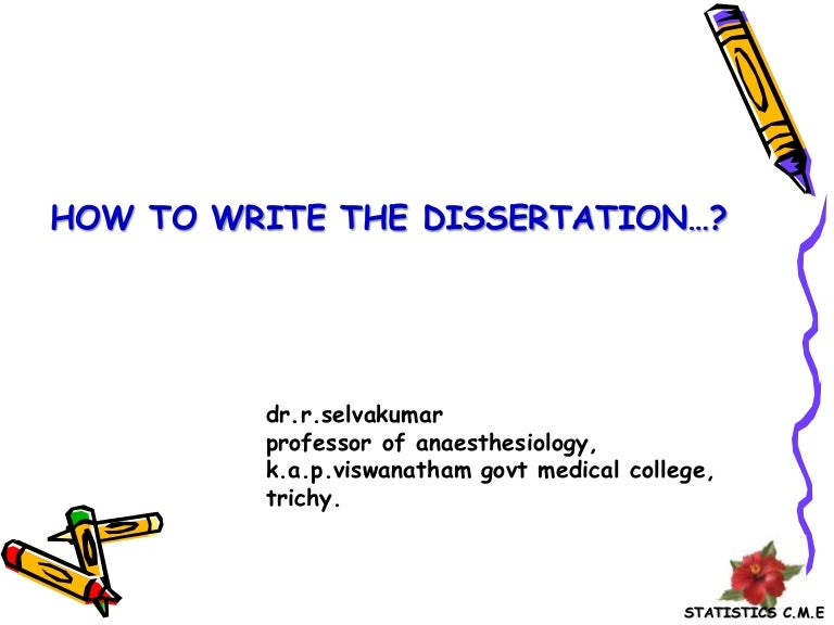 how to write medical dissertation