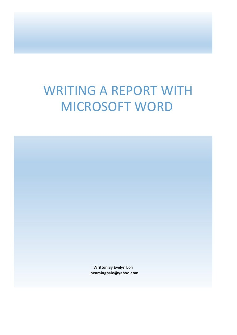 how to write a report in word