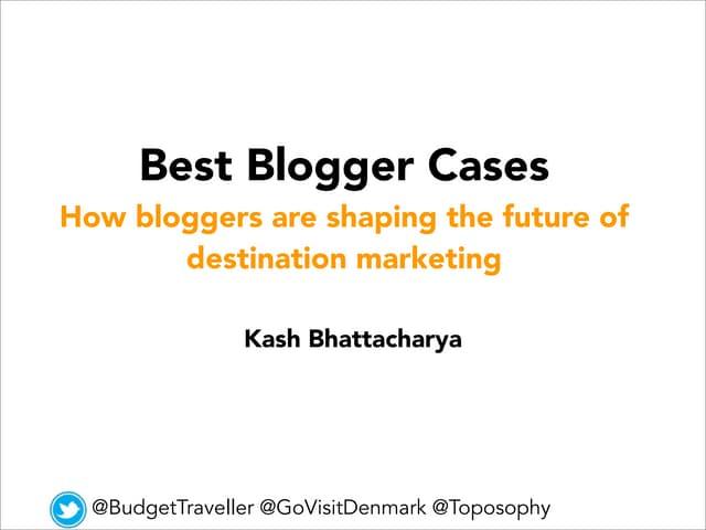 How travel bloggers shape destination marketing