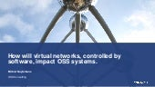 How will virtual networks, controlled by software, impact OSS systems?