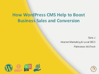 How word press cms help to boost business sales and conversion