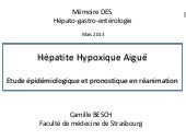Hépatite hypoxique aigue