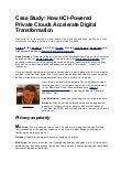 Case Study: How HCI-Powered Private Clouds Accelerate Digital Transformation