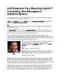 As Enterprises Face Mounting Hybrid IT Complexity, New Management Solutions Beckon