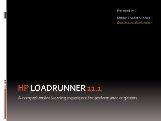 Performance Testing using LoadRunner - Kamran Khan [chromeis.com]