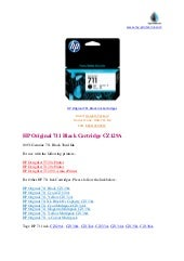 Hp original 711 black ink cartridges