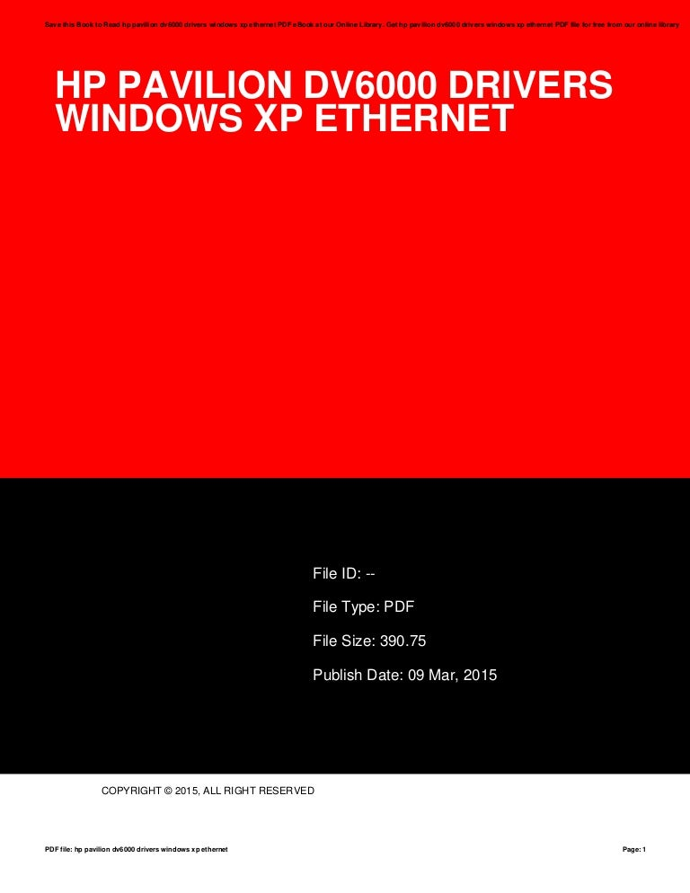 Missing drivers, hp is absolutely no help windows xp.