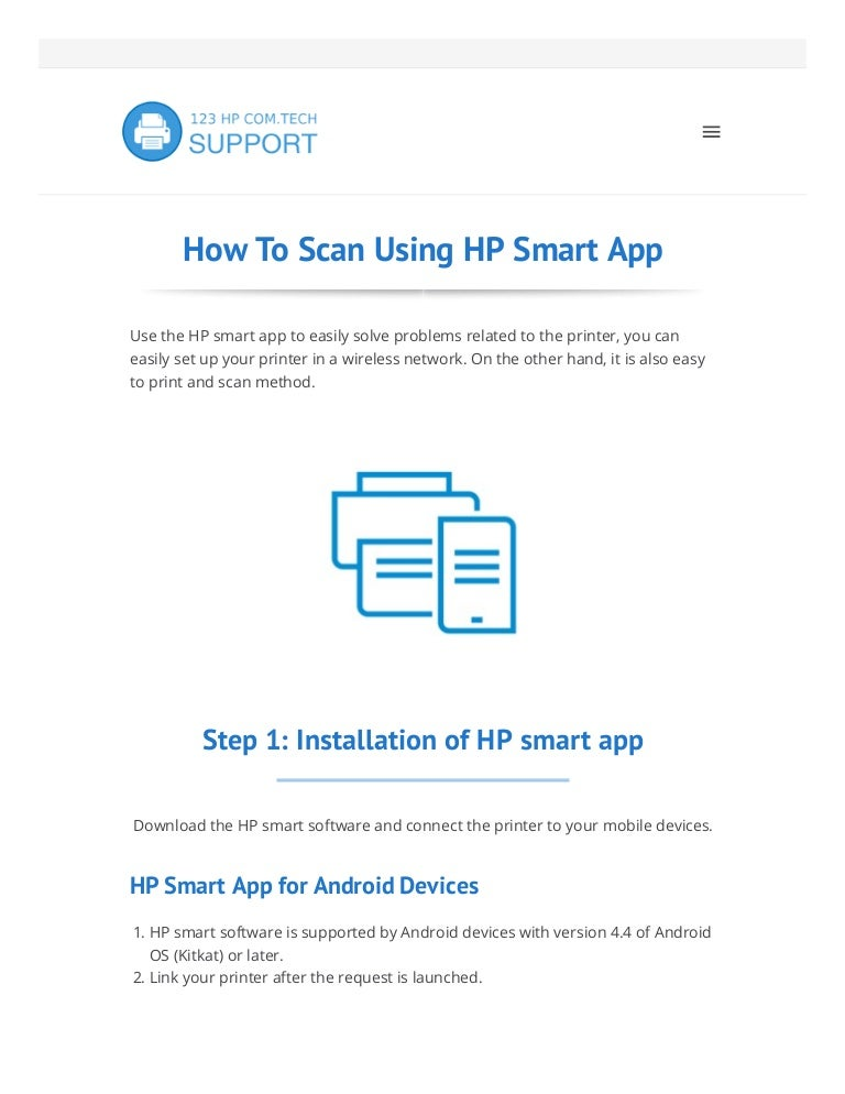 123 hp com smart app