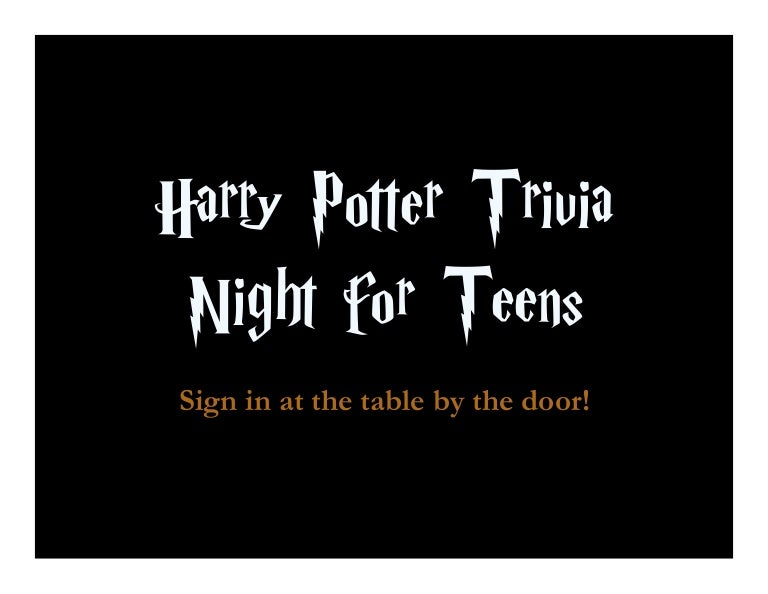 Conversations! harry potter teen quizes join