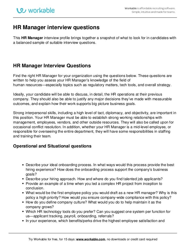 hr director interview questions