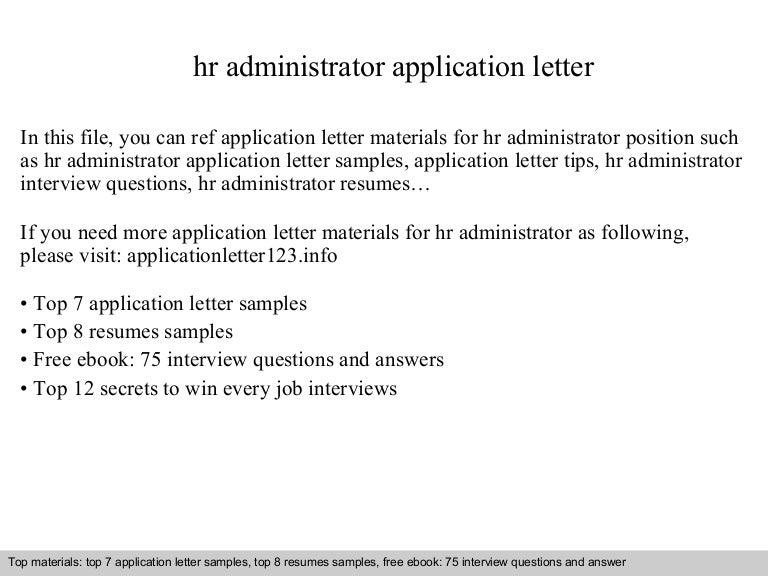 hr administrator cover letter sample - Erha.yasamayolver.com