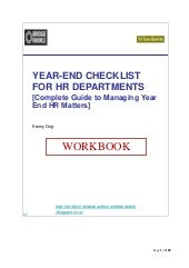 (BridgeKnowle) Year End Checklist for HR - Companion WorkBook