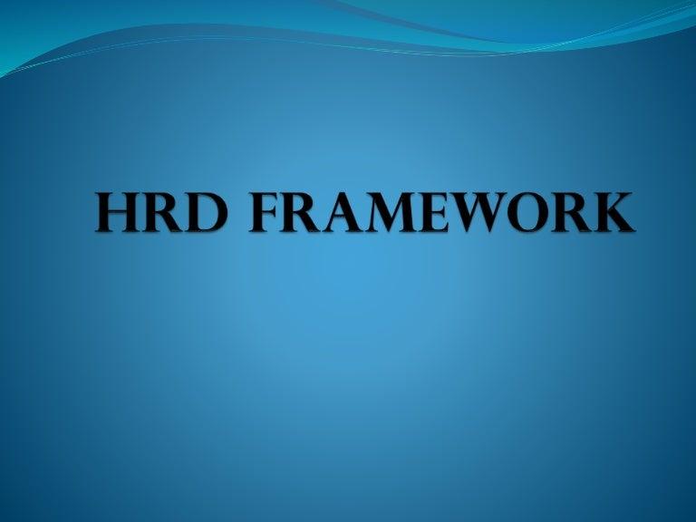 Human Resource Development- framework