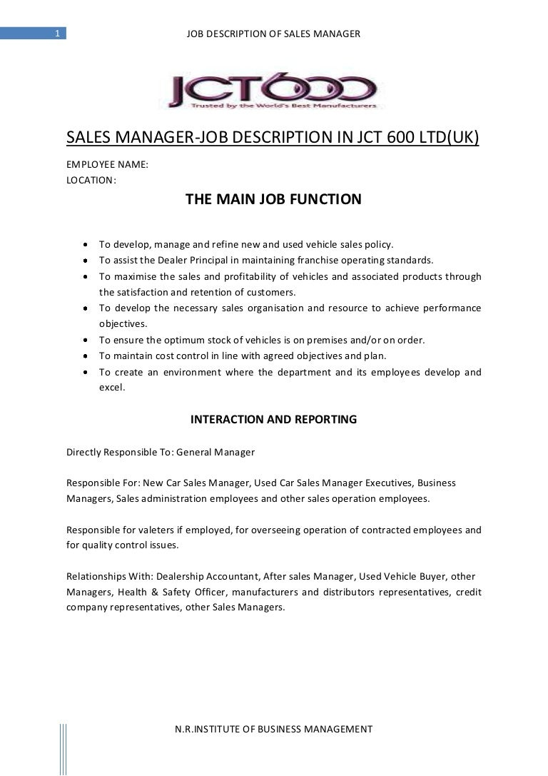 hr job description for jobs