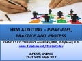 HRM Auditing – Principles, Practice and Process