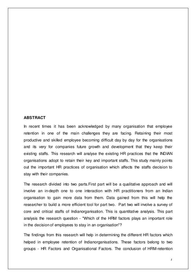 dissertation hrm