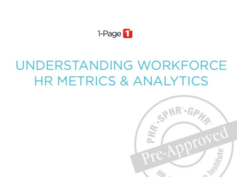 Understanding Workforce Hr Metrics & Analytics