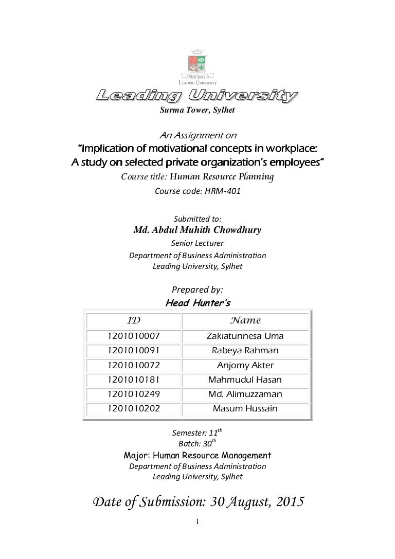 implication of motivational concepts in workplace a study on selecte