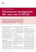 (DUTCH) Performance management: HR, wees niet te SMART
