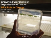 Growing & Grafting New Organisational Tissue:
