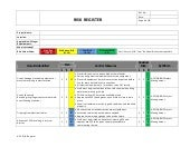 HSE Risk Register
