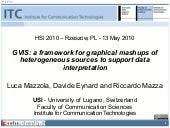 GVIS: a framework for graphical mashups of heterogeneous sources to support data interpretation