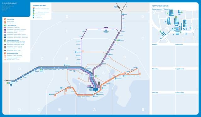 Prototype for Helsinki Region Transport (HSL) schematic transit map