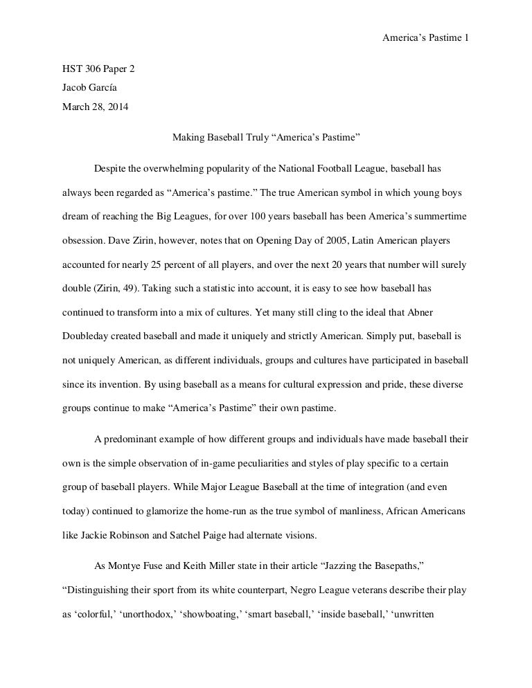 baseball essay making baseball truly ldquo america s pastime rdquo ...