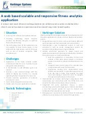 A web based scalable and responsive fitness analytics application
