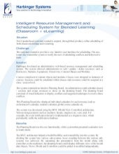 Intelligent resource management and scheduling system for blended learning