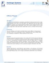 Offline player for pharmaceutical product training
