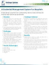 A Credential Management System For Hospitals