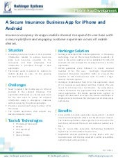 A Secure Insurance Business App for iPhone and Android