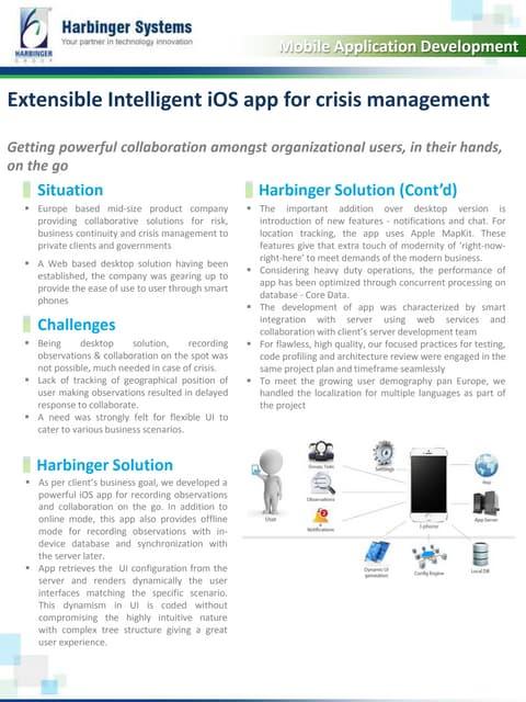 Extensible Intelligent iOS app for crisis management