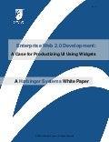 Enterprise Web 2.0 Development: A Case for Productizing UI Using Widgets