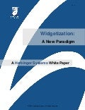 Widgetization: A New Paradigm