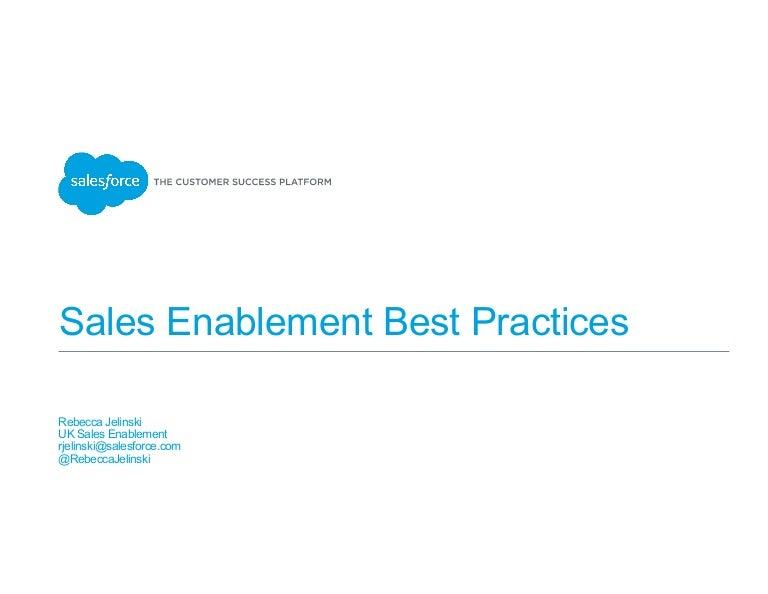 salesforce sales enablement best practices. Black Bedroom Furniture Sets. Home Design Ideas